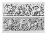 Designs for Classical Friezes  from 'Precision Book of Drawings'  1856 (Engraving)