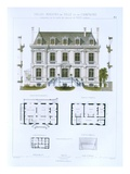Design from 'Town and Country Houses Based on the Modern Houses of Paris'  C1864 (Colour Litho)