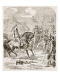 Vercingetorix before Caesar (Litho)