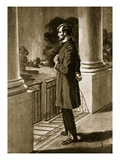 Lincoln Looks Out from the White House (Litho)