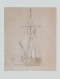 Schonerbrigg in the Harbour   around 1815