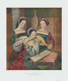 Three Ladies Making Music