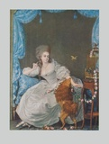 Lady with Dog and Birdcage