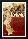 La Bohème, musique de Puccini Reproduction laminée et encadrée par Adolfo Hohenstein