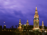 Austria  Vienna  Rathaus  Night
