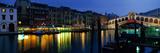 Grand Canal and Rialto Bridge Venice Italy