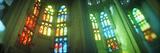 Interiors of a Church Designed by Catalan Architect Antonio Gaudi  Sagrada Familia  Barcelona  C