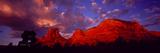 Rocks at Sunset Sedona AZ USA Papier Photo par Panoramic Images