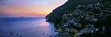 Buildings Lit Up at Night  Positano  Amalfi  Amalfi Coast  Campania  Italy
