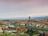 Buildings in a City  Ponte Vecchio  Arno River  Duomo Santa Maria Del Fiore  Florence  Tuscany