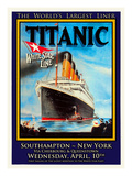 Titanic White Star Line Travel Poster 1