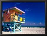 Life Guard Station  South Beach  Miami  Florida  USA