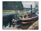 Barges at Pontoise