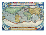 Typus Orbis Terrarum from the Theatre of the World in Apian Projection