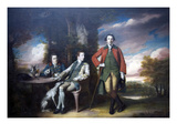 The Honorable Henry Fane with His Guardians  Indigo Jones and Charles Blair  1761–66