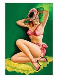 Flirt Magazine; Pinup with Hat