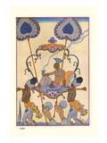 Inde Reproduction d'art par Georges Barbier