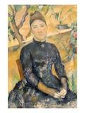 Madame Cézanne (Née Hortense Fiquet, 1850–1922) in the Conservatory Reproduction d'art par Paul Cézanne