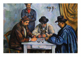 The Card Players Reproduction d'art par Paul Cézanne