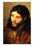 Christ by Rembrandt Reproduction d'art par Rembrandt Van Rijn