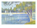The Seine by the Island of Jatte in Spring