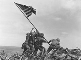 Iwo Jima Flag Raising Papier Photo par Joe Rosenthal