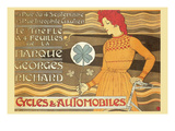 Cycles and Automobile by Marque George Richard Reproduction d'art par Alphonse Mucha