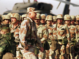 Gen H Norman Schwarzkopf Inspecting Troops
