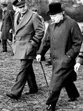Eisenhower Churchill Papier Photo