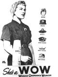 WWII US Woman Ordnance Worker