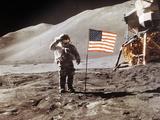 Apollo 15 Moonwalk 1971 Papier Photo