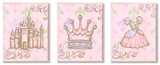Castle  Crown  and Dress Pink Princess Trio