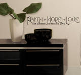 Faith  Hope & Love Peel & Stick Quotable