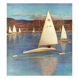 """""""Iceboating in Connecticut""""  November 28  1959"""