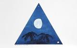 Three Quarter Moon-Two Evening Stars