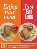 Enjoy Your Food- Just Eat Less Poster