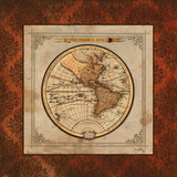 Red Damask Map I