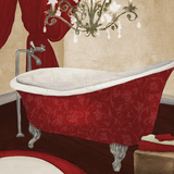 Red Guest Bathroom II Reproduction d'art par Elizabeth Medley