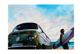Surf Bus Series: The Green VW Bus
