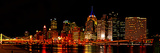 University of Pittsburgh - Pano of the Pittsburgh City Line at Night