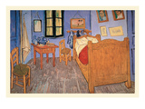 Bedroom at Arles Reproduction d'art par Vincent Van Gogh