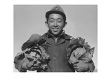 Richard Kobayashi  Farmer with Cabbages