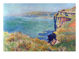Cliffs at Varengeville Reproduction d'art par Claude Monet