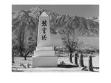 Monument in Cemetery Reproduction d'art par Ansel Adams