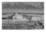 Manzanar Relocation Center from Tower Reproduction d'art par Ansel Adams