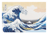 La grande vague de Kanagawa Reproduction d'art par Katsushika Hokusai