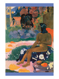 Tahitian Girl Nude Sits on Fabric