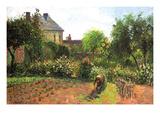 The Artist Garden at Eragny Reproduction d'art par Camille Pissarro