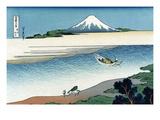 Tama River in Musashi Province Reproduction d'art par Katsushika Hokusai