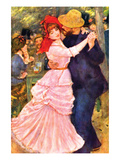 Dance in Bougival (Detail) Reproduction d'art par Pierre-Auguste Renoir